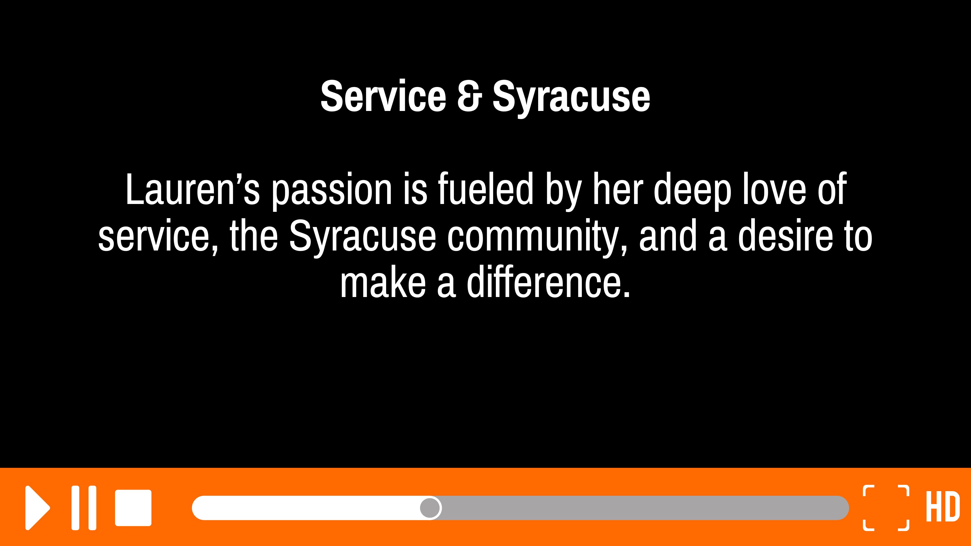 Service & Syracuse: Segment 1 of 6
