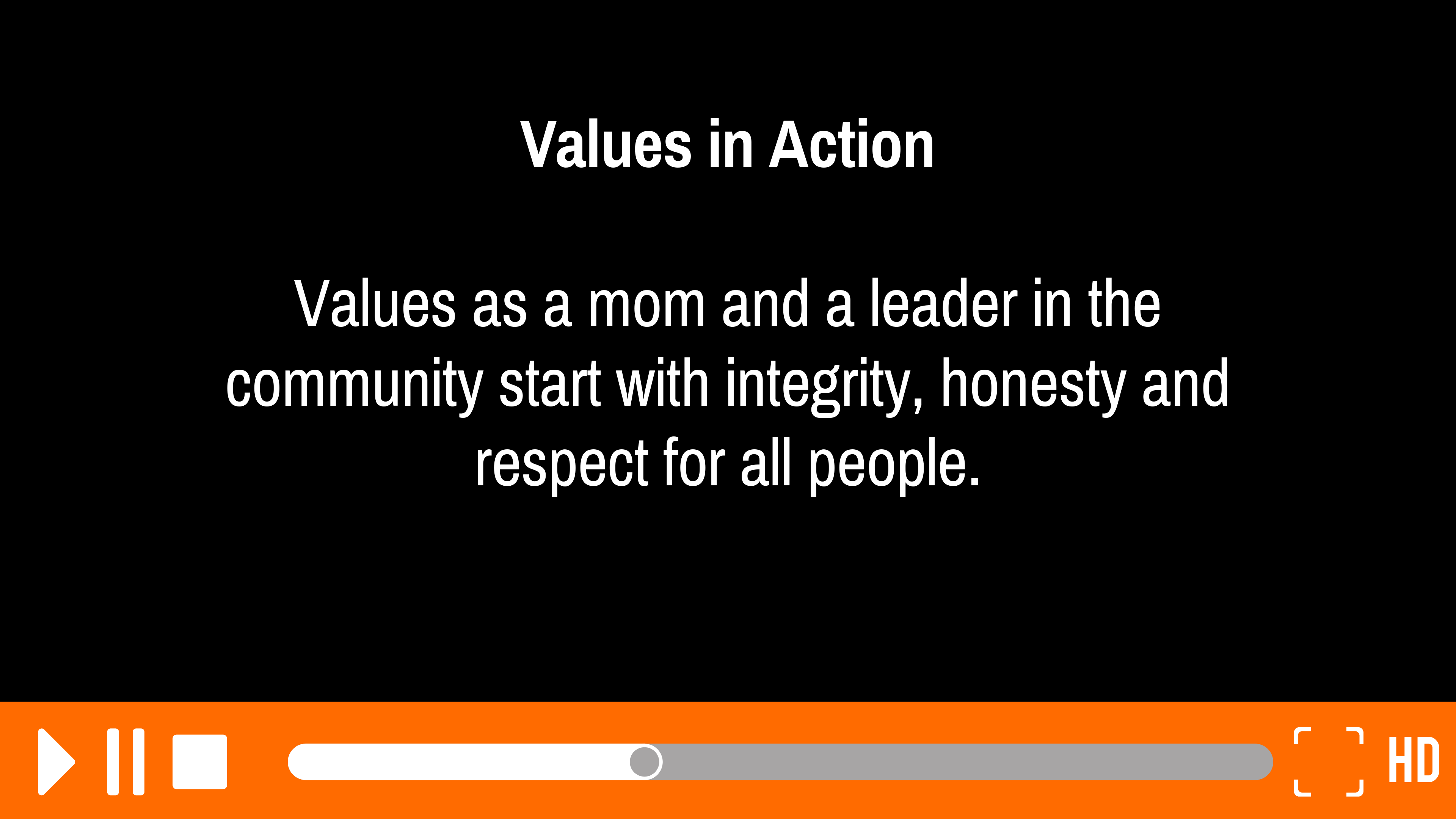 Values in Action: Segment 5 of 6